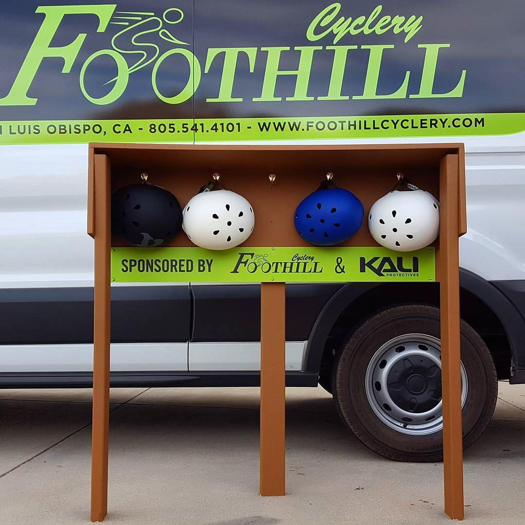 Forgot your helmet? We've got you covered. Teaming up with our friends at @foothillcyclery , the Helmet Hut is a new installation at @morrobaybikepark to help keep you safe, and keep you riding #helmethut #safetyfirst