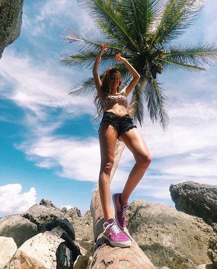 @agustinadibenedetto en las playas de México con sus Spiral