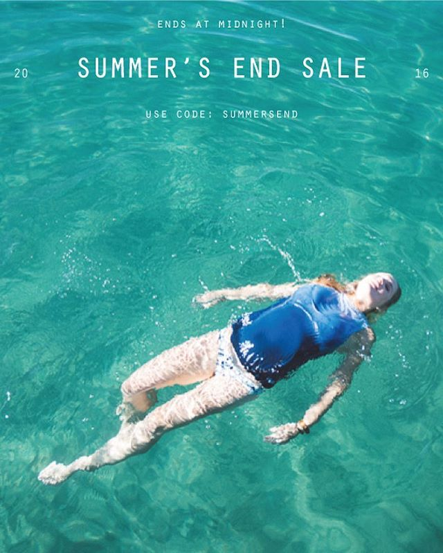 Last Chance for 30% off the entire website! Summer's End sale ends at midnight tonight.