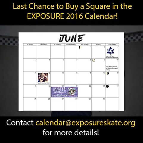 LAST CHANCE to get a square in our 2017 Calendar! Announce a special day in a calendar filled with rad female skateboarders ! Click the link in our bio !