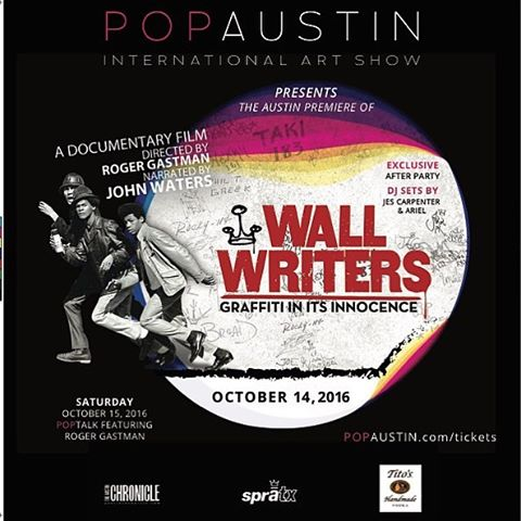 "Friday, October 14th at 8pm @popaustinartshow will host the Austin premier of ""Wall Writers"". SprATX is honored to co-sponsor the event! The following day, October 15th, two of the SprATX owners will give a #poptalk about how to market your art through..."