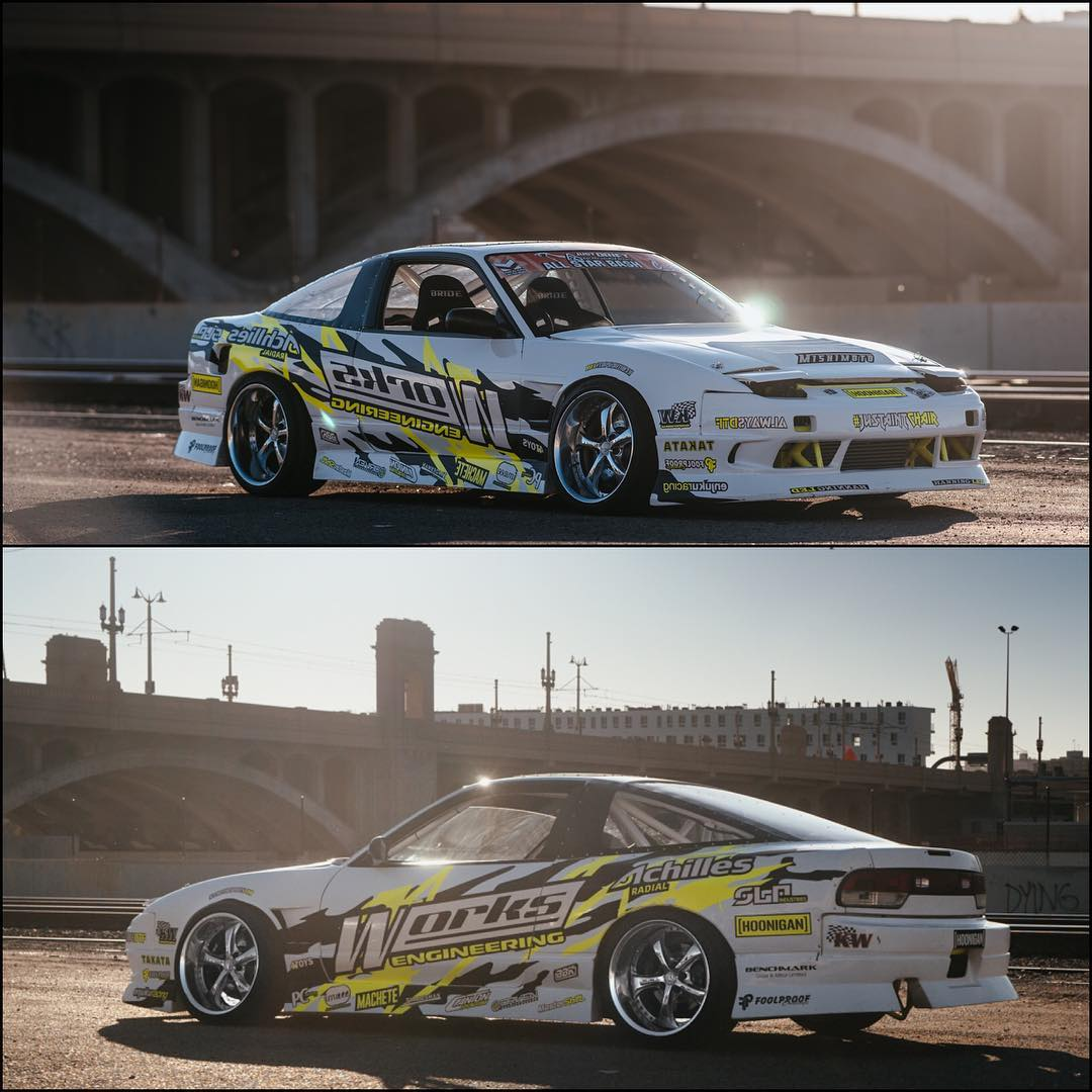 Our dude @chairslayer and his 600hp, hand controlled, 180sx have a full feature on @thespeedhunters out now! He even snuck in a few shots sitting on @hertlife's VS-KFs!