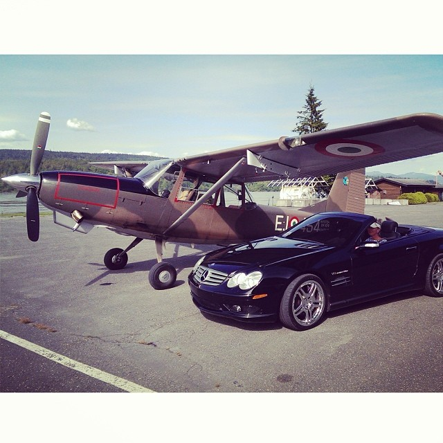 Couple of toys for the long weekend #mercedes #benz #plane #permissiontoplay