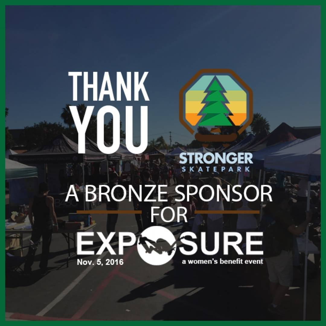 Super Stoked to have @stronger_skatepark as a bronze sponsor for #exposure2016!! All the way from Portland, Oregon~ Stronger Skatepark is on a mission to build a radically inclusive park and build community for people of all backgrounds to come...