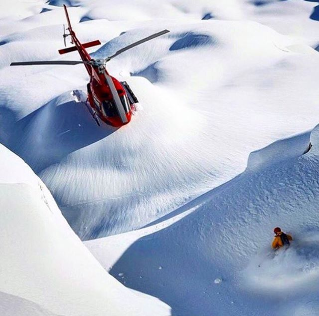 Remember that one time we dreamed of this, again and again.  Happy Friday from @heli PC: @alainsleigher  #defineyourroute #embracethestorm #winteriscoming #flylowgear