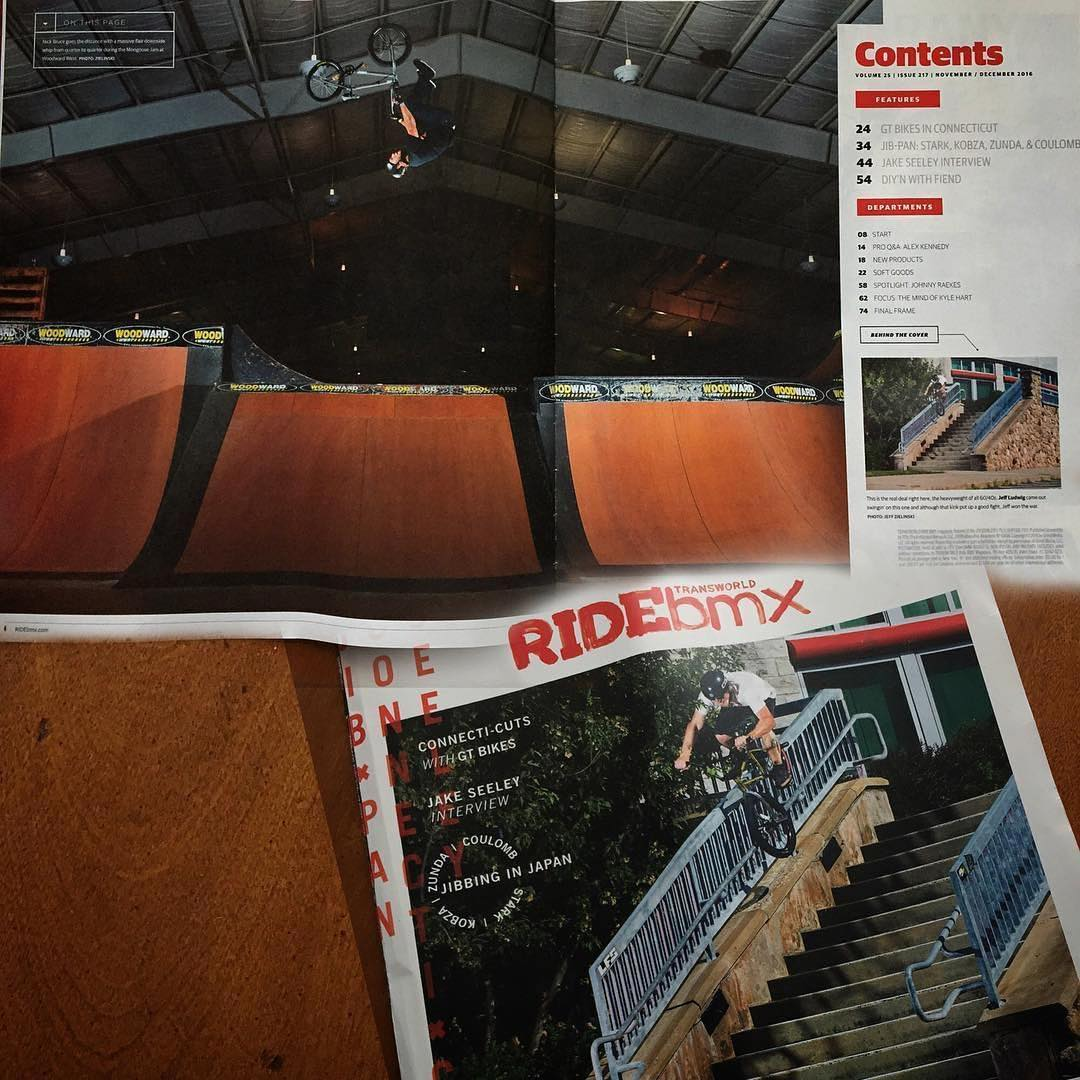 From this year's #MongooseJam @nick_bruce got a 2-page spread in @ridebmx zine! Time to pick up a copy! @jeffzphoto #bmx #woodward