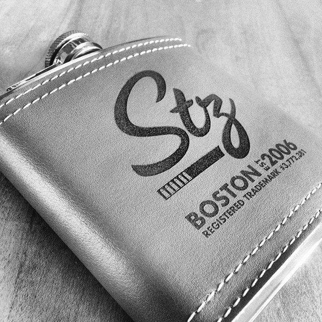 New leather wrapped flasks for fall/winter on the site now. Hott!! #leatherflask #stz #steezmagazine