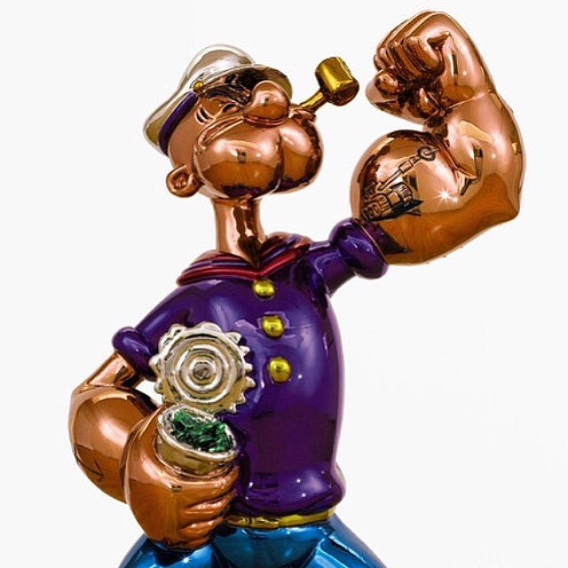 Steve Wynn purchased this Popeye sculpture from Jeff Koons for $28M. Safe to say both these guys are ballin' (via @hypebeast )