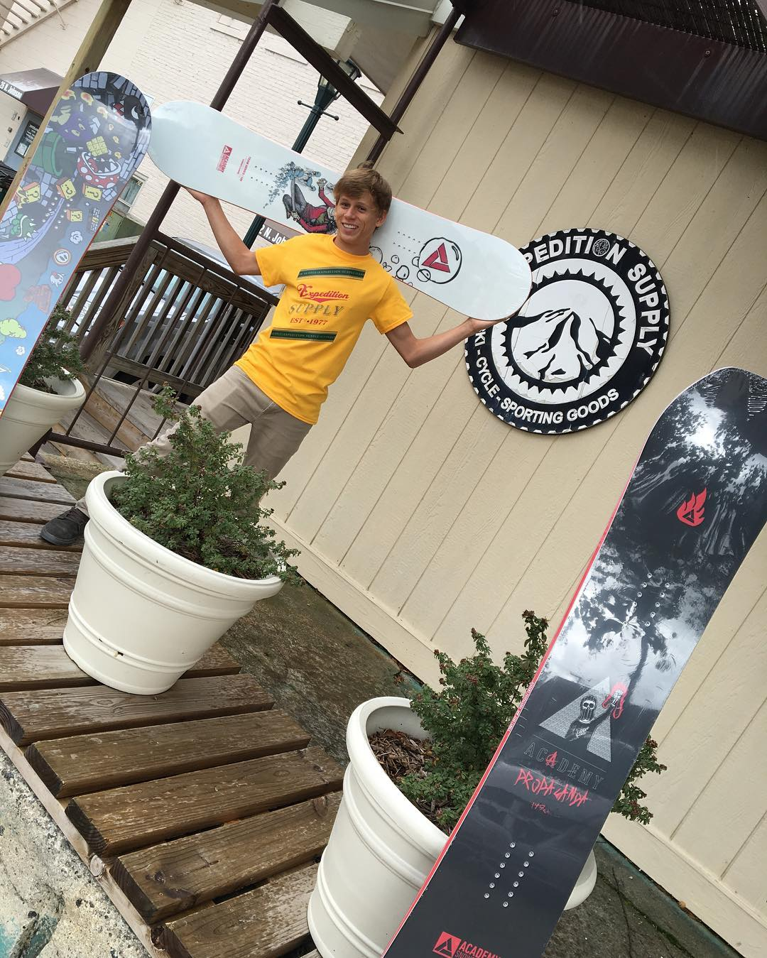 Derek Jackson at Expedition supply stoked on the new boards. Did you get yours yet? @expeditionsupply @derek527