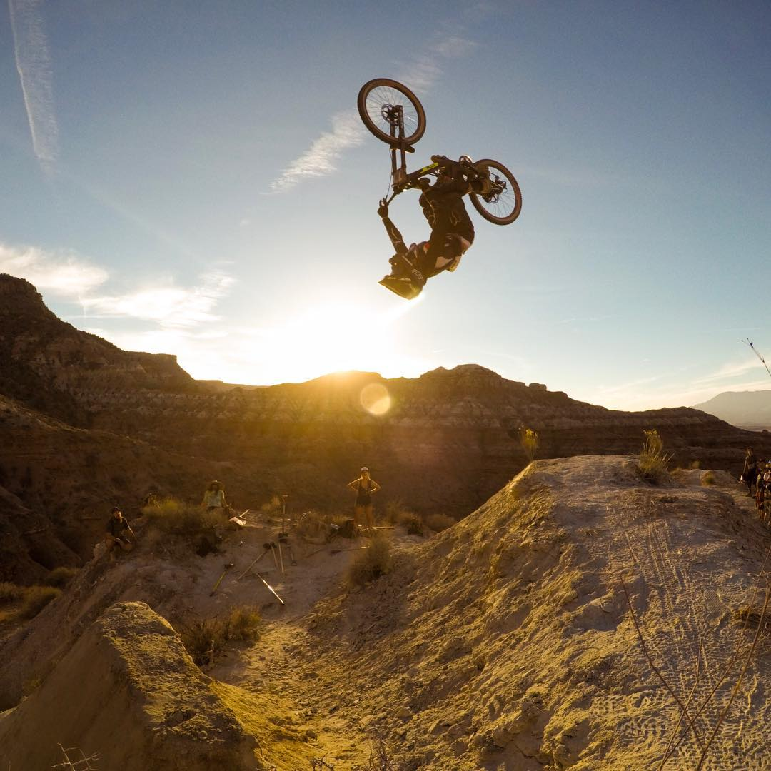 Sending it at #RedBullRampage! Tune into @redbulltv today and check out our Story from #Utah! #