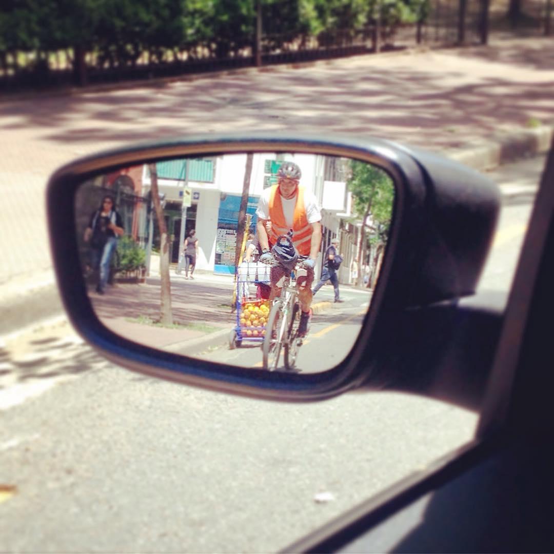 Viernes a la tarde, no da quedar clavado en el tránsito. Moverse en bici es mucho mejor!!!