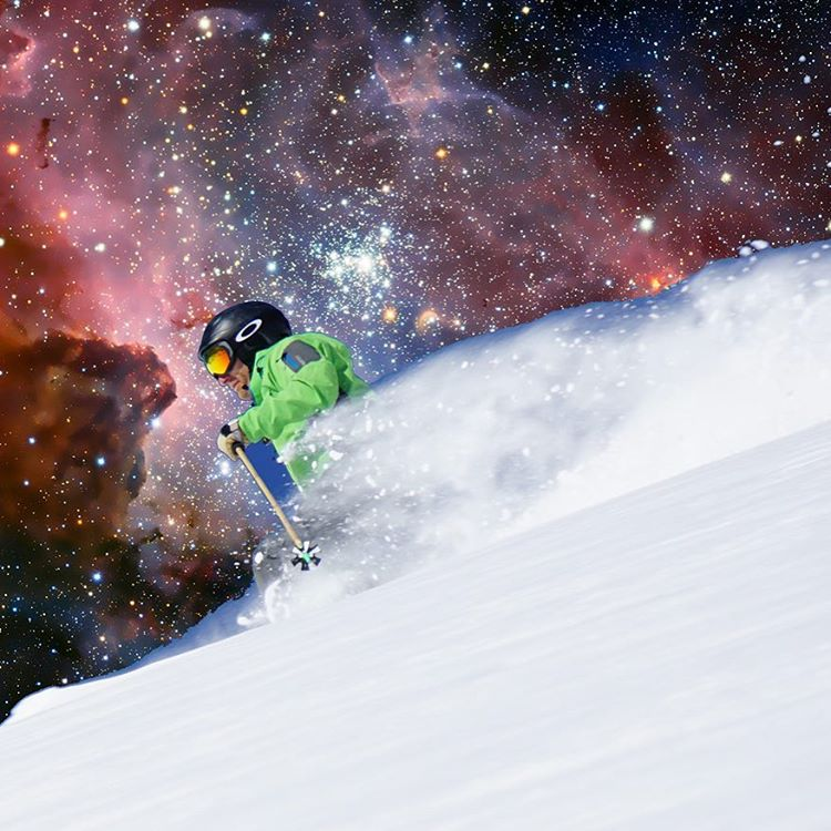Hope your weekend is out of this world // #plantyoursoul #powder #space #shredmars