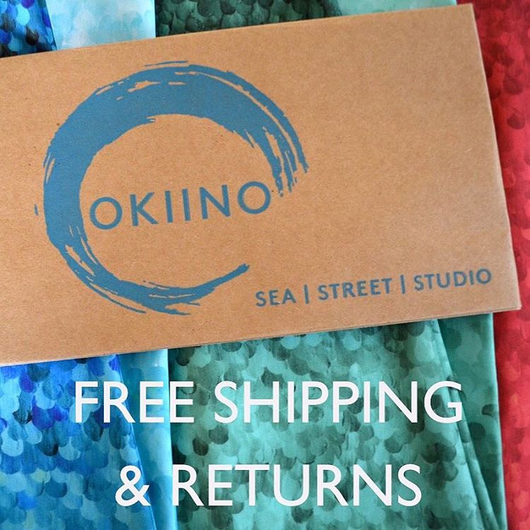1 DAY LEFT Free shipping & returns ends tomorrow at midnight San Francisco time (PST) | all domestic locations included.  #try #OKIINO #free #freeshipping #freereturns #fashion #function #feelgood #sea #street #studio #shop OKIINO.com