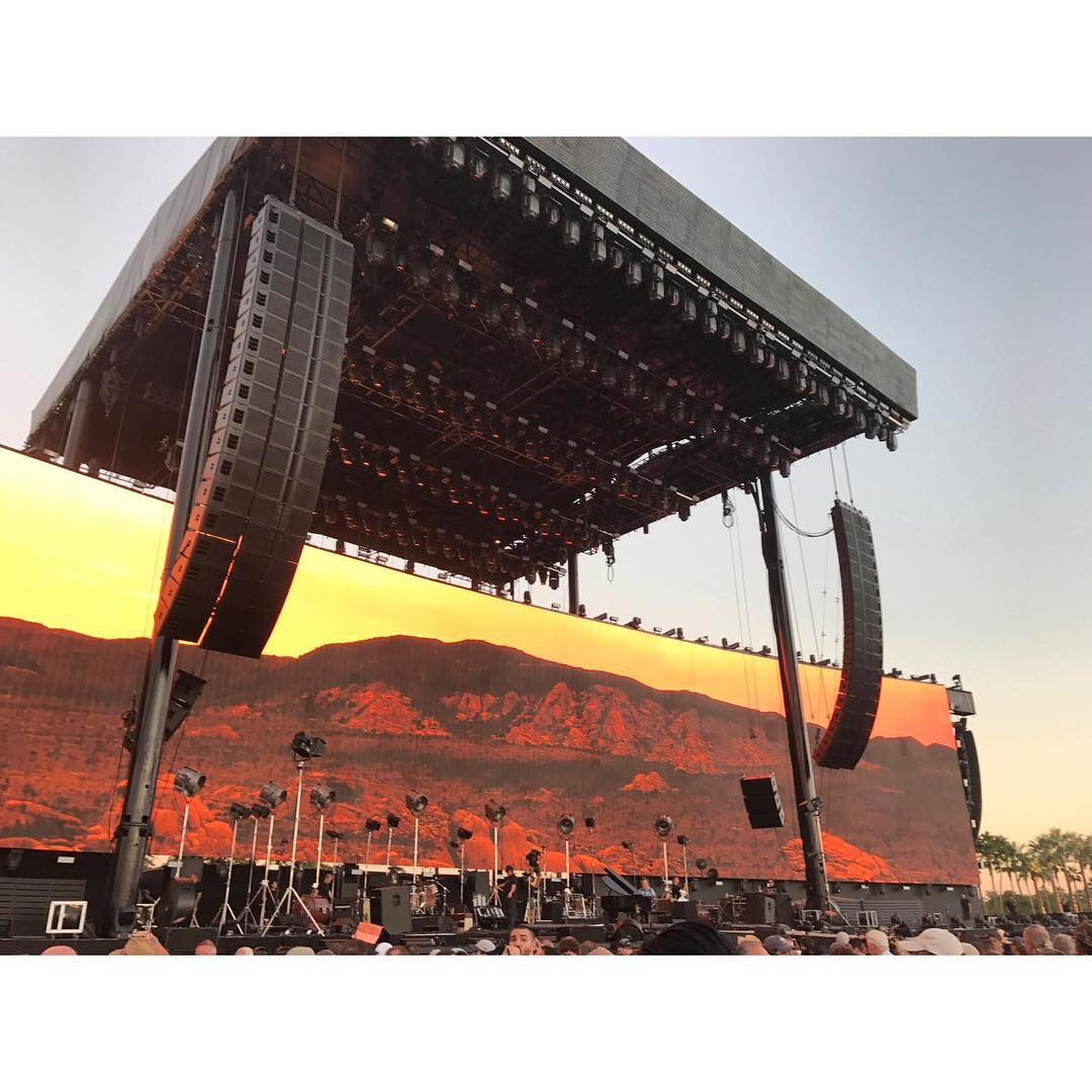 dessert trip to Coachella to see the Stones, Bob, Neil and Paul  #awesome #awesomesurfboards #desserttrip  special thanks to @tywoody1
