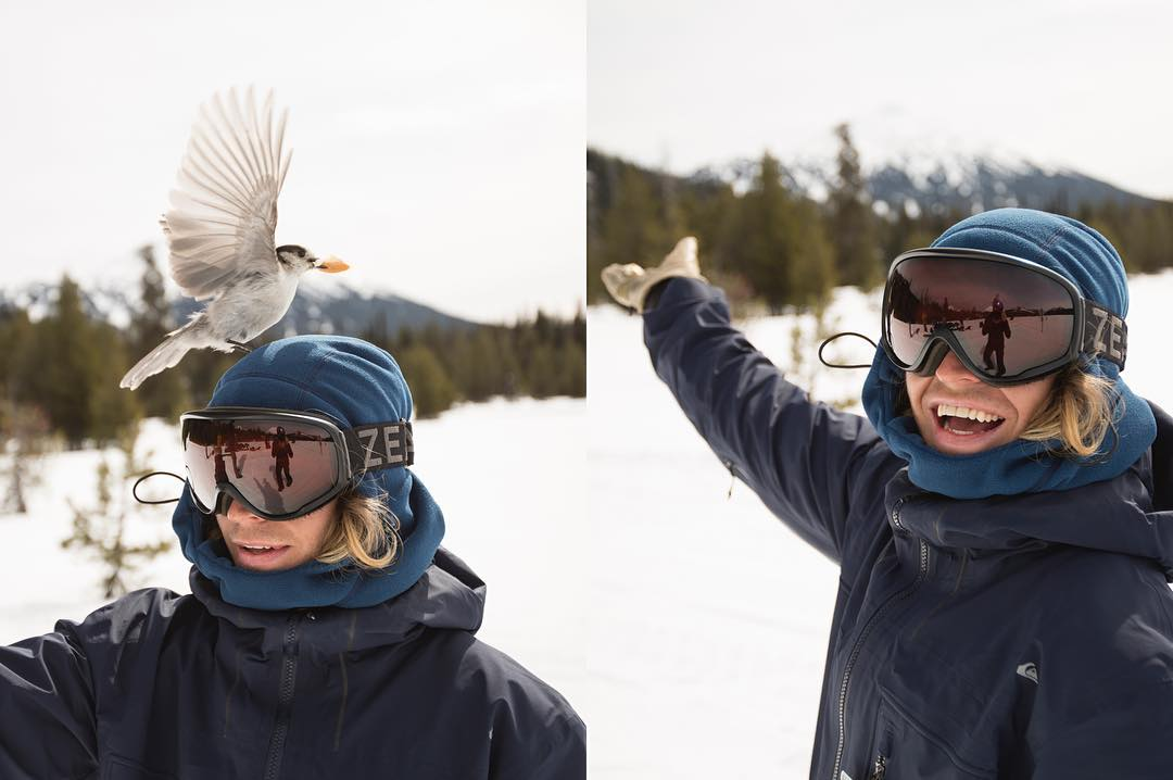 When in doubt, put a bird on it. Ambassador @austensweetin with some very organic modifications to The Fleece Hood.