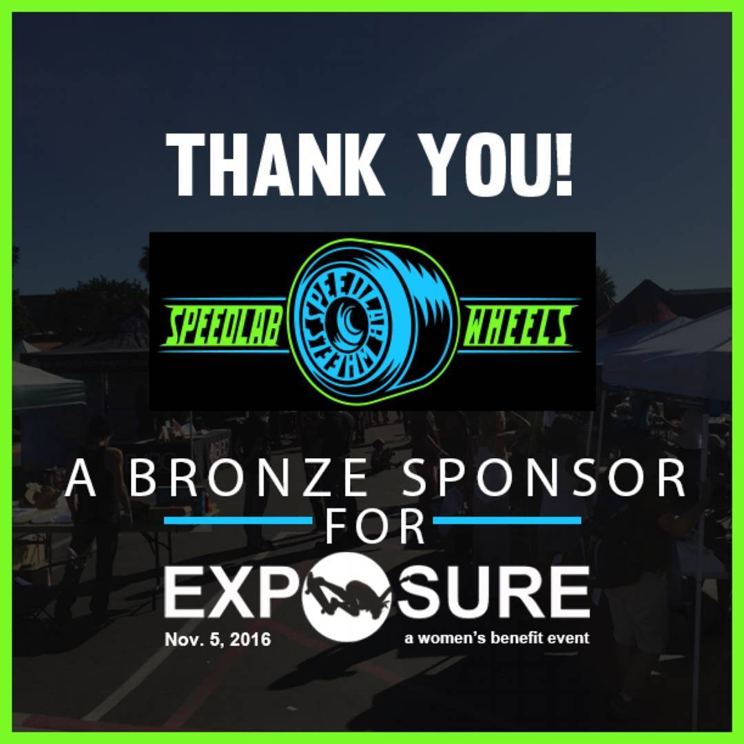 We are so grateful that @speedlabwheels is a part of EXPOSURE 2016!! Speedlab is committed to making the best wheels on the market; preserving quality, integrity, and pride in the product! For skaters by skaters! Thank You for being a Bronze Sponsor at...