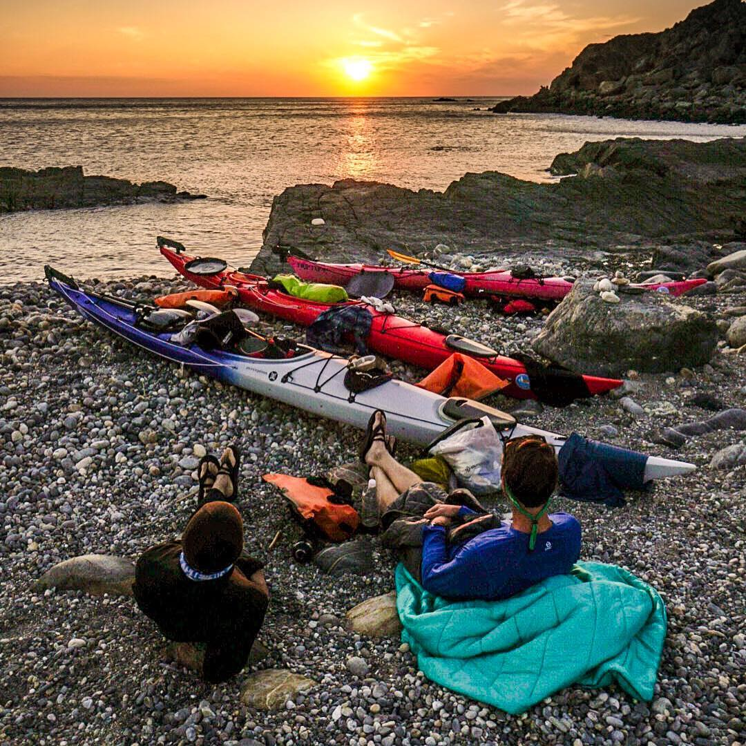 After paddle sunset stoke session.