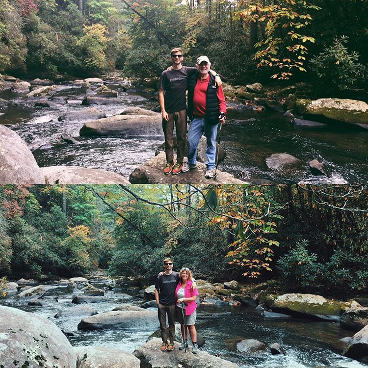 These tourists are in town and wanted to check out the #local waterfalls #leafpeepers