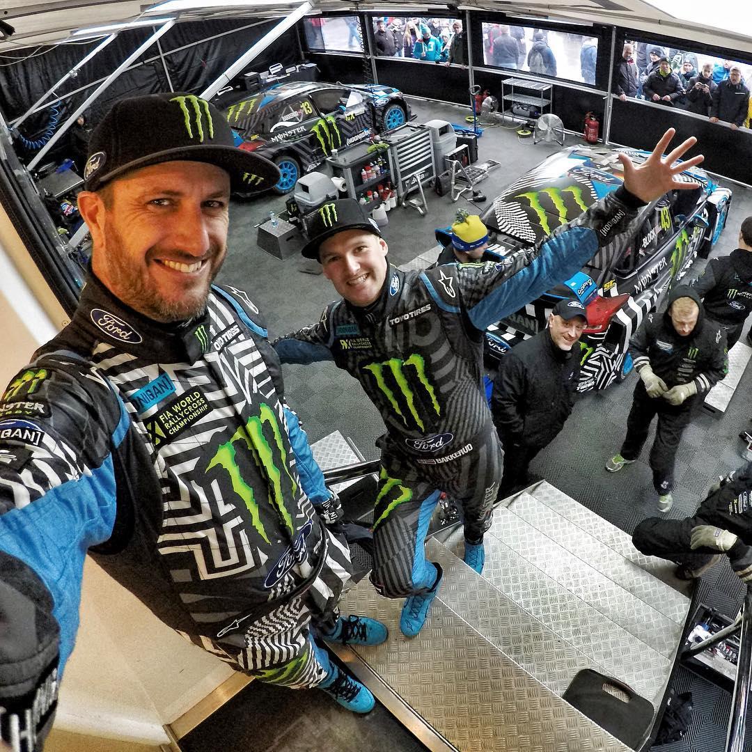 Guten morgen from Estering in Buxtehude, Germany! Me and this dude @AndreasBakkerud are about to start practice here for the second-to-last @FIAWorldRX race of the year. Selfie via @GoPro #Hero5. #FordRallyX #FocusRSRX