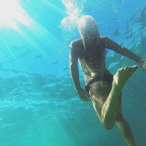 Take a dip on the wild side! #swimming #ocean #wildchild #happyplace #happysaturday