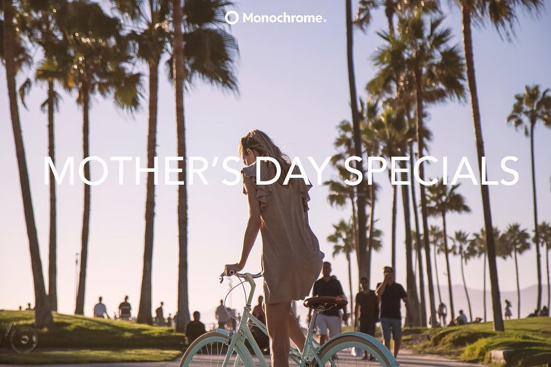 Last day! Of mother's day specials!!! #monochromebikes #ilovemymonochrome #monochromeworldwide