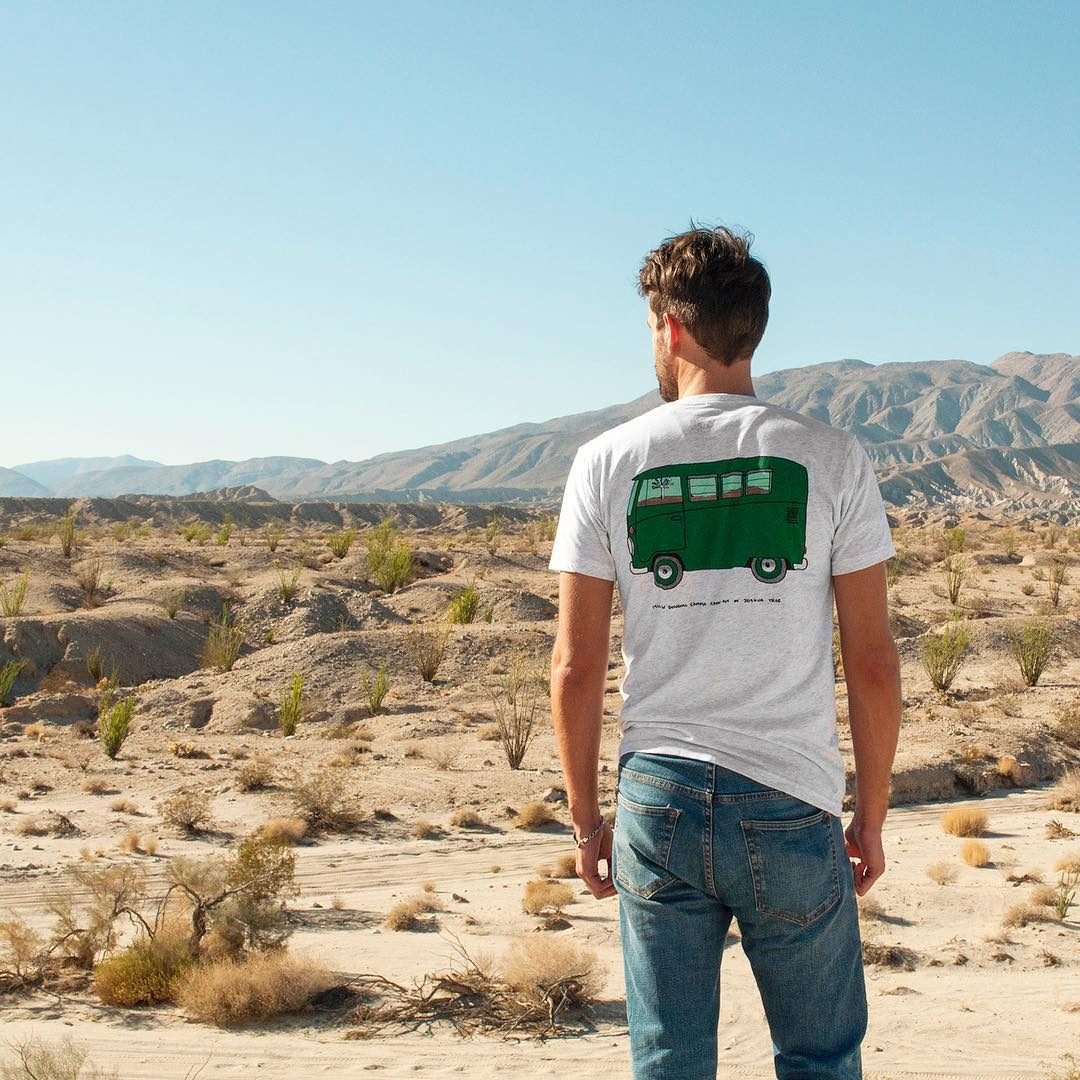 DESERTED We're nearing fall, but it's still SO toasty out in the desert. Don't sweat! Stay cool in our Joshua Tree Rad Trucks Tee. #JoshuaTree #RadParks #FindYourPark #Oldchella #DesertTrip