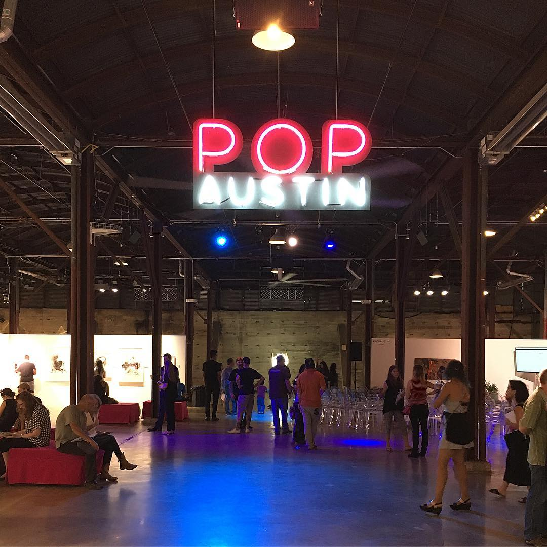 Out here at @popaustinartshow till 6pm.  If you are not here, you are missing something amazing. • • Located inside @fairmarketatx hope you get to see it before it's gone.  Too much great art. • • #atx #austintx #texas #tx #spratx #popaustin...