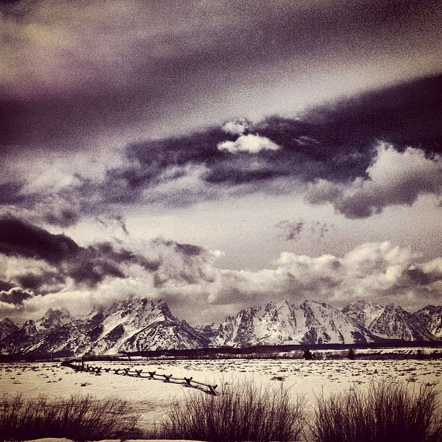 BOOYA! #epic view after a day of #snowmobiling #togwoteepass #jacksonhole #brap #mountains