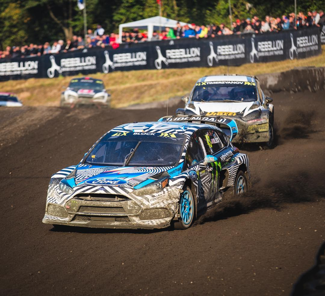 Made it to the Semi Final here at #EsteringRX. It's been a tough battle with crazy track conditions, and it took a lot of work to get where I'm at currently. Watch the Semi Final and Final races LIVE at the FIA World Rallycross website. #FocusRSRX...
