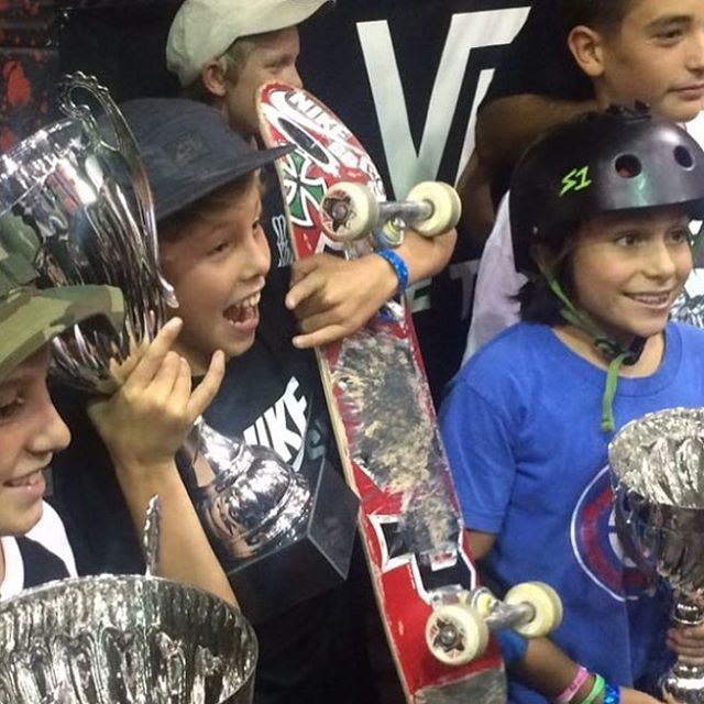 @keeganpalmer is hyped he just won the Vans Combi Am Classic