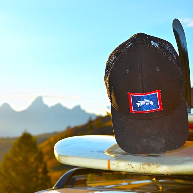 Welcome the MIDNIGHT Wyoming trout hat to the Give'r family! #prematurefishingitch #jacksonhole #wyoming #fishing