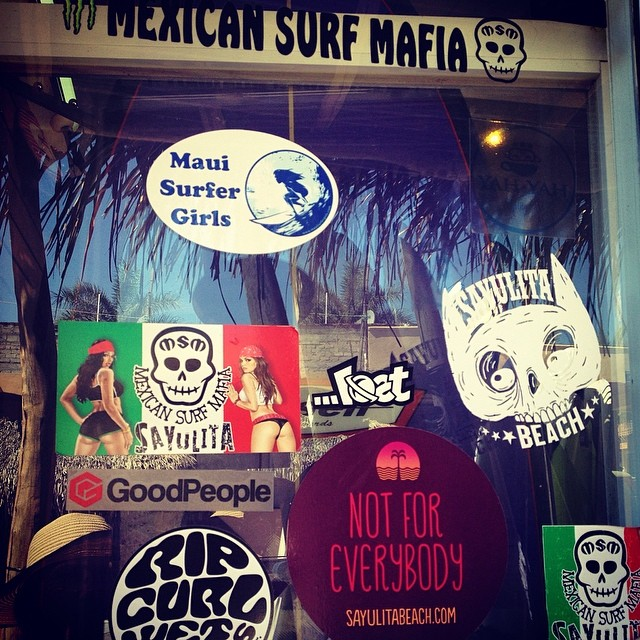We left our mark down in #sayulita #mexico // If you're ever there and find our stickers take a photo and tag us on Instagram to win a sweet #prize #instacontest #contest #win #surfing #surfshop #mexicansurfmafia #surfer #surfergirl #surftrip...