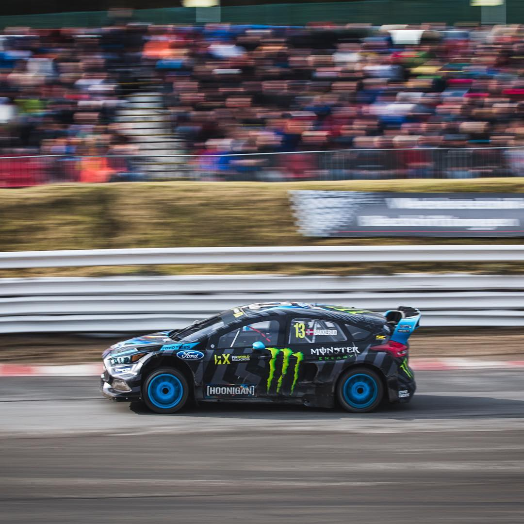 Congratulations to Hoonigan Racing Division's @andreasbakkerud on his P3 podium spot at #EsteringRX @fiaworldrx in the Ford Focus RS RX! Photo: @roncar #FordRallyX #FocusRSRX