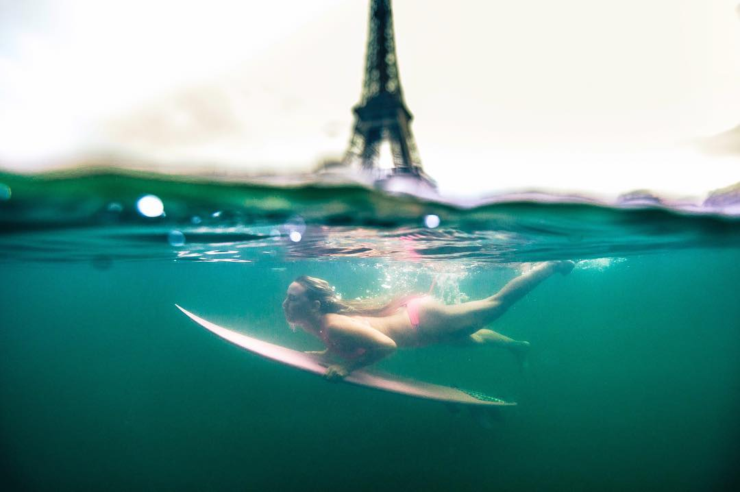 Duck diving in this Paris river is In-Seine-ly cold!