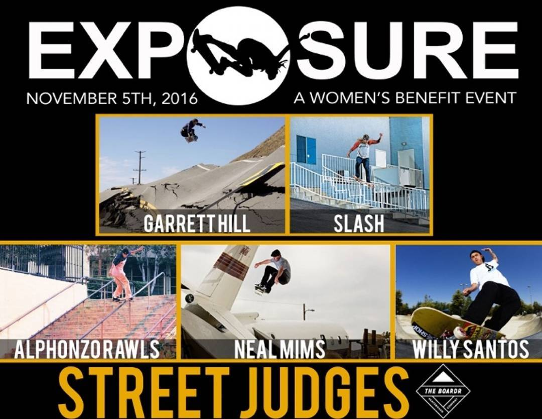 Ladies and Gentlemen your Judges for the Exposure 2016 Street Competition! @garretthill, @brianhansen, @alphonzorawlsdesigns, @nealmims, and @willysantos!! Thank You to all our Judges! We are excited and grateful to use @theboardr's judging software to...