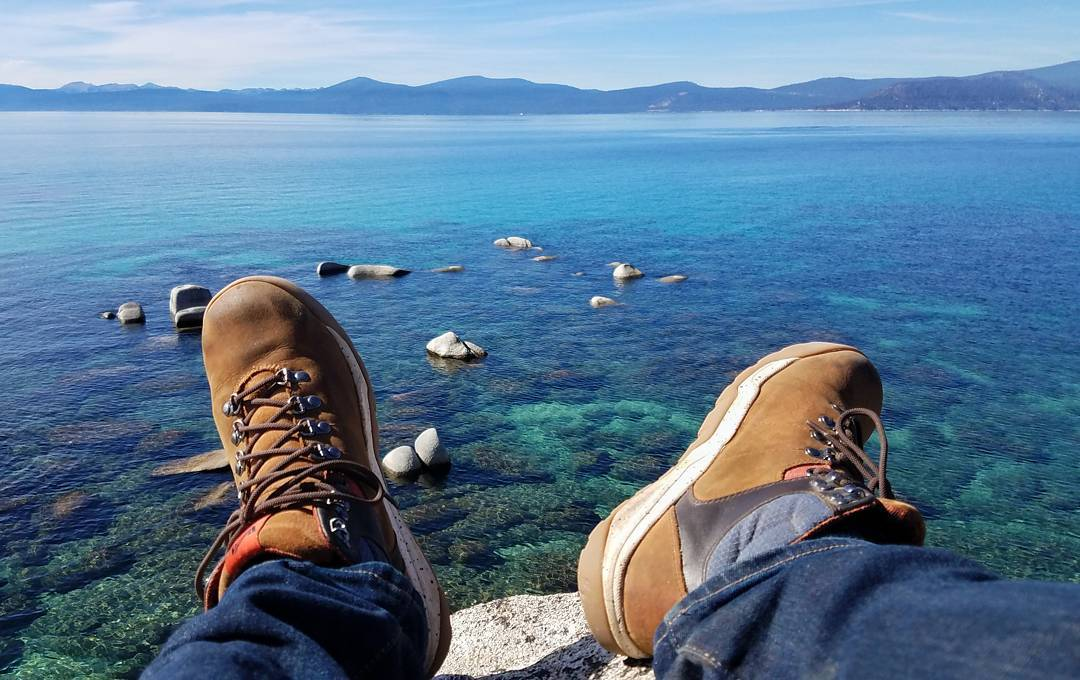 Taking in the Tahoe blue with @tfinder