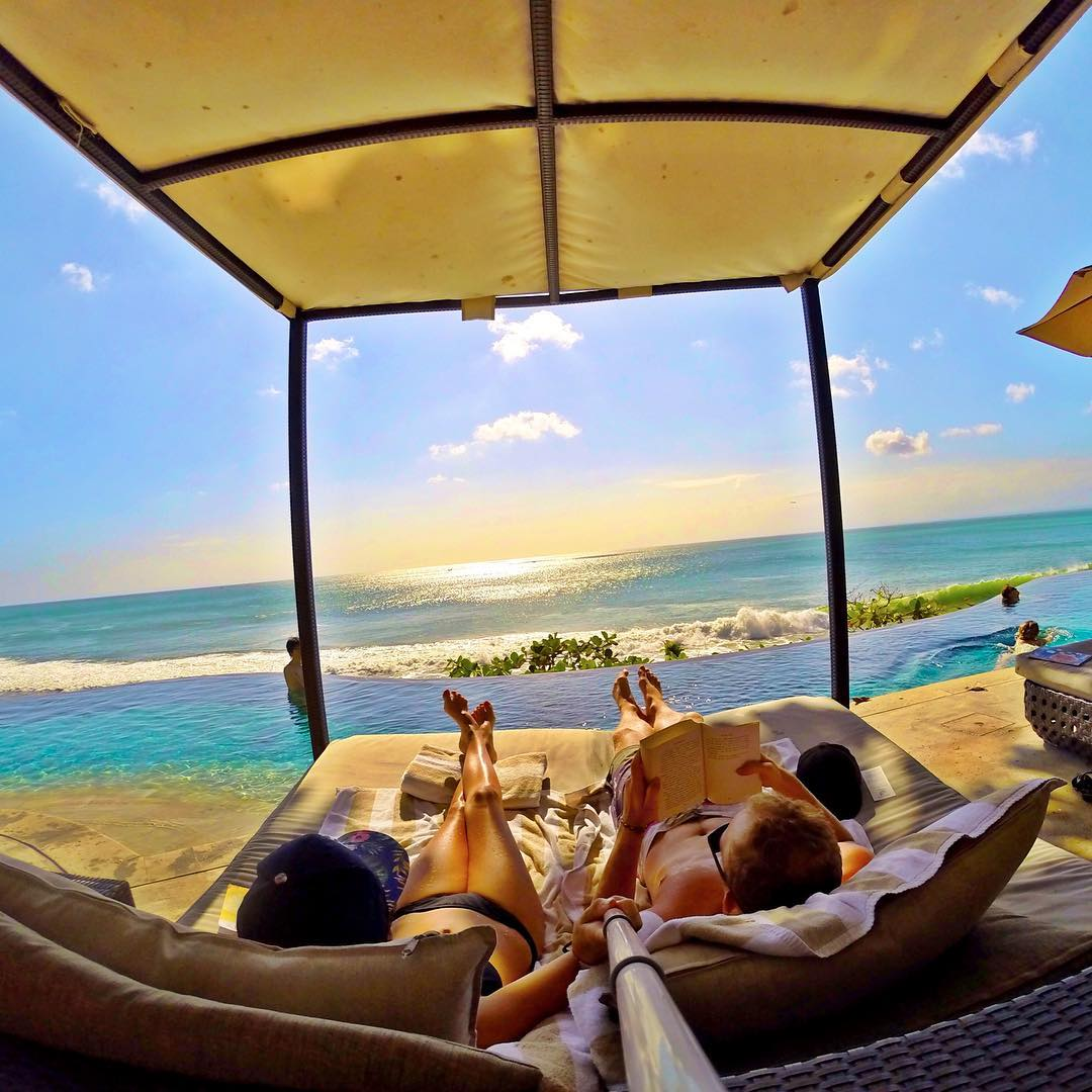 """Not too shabby of a view."" Photo by Travel Vloggers & Bloggers @foreversunbrnt. Shot with GoPro HERO4 & GoPole Reach. #gopro #gopole #gopolereach #bali"