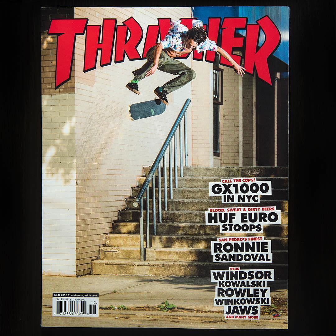 Our guy, @starheadbody, just got his second @thrashermag cover this year with this ridiculous kickflip wallride! You rule, Evan! Photo: @blabacphoto #EvanSmith #DCShoes
