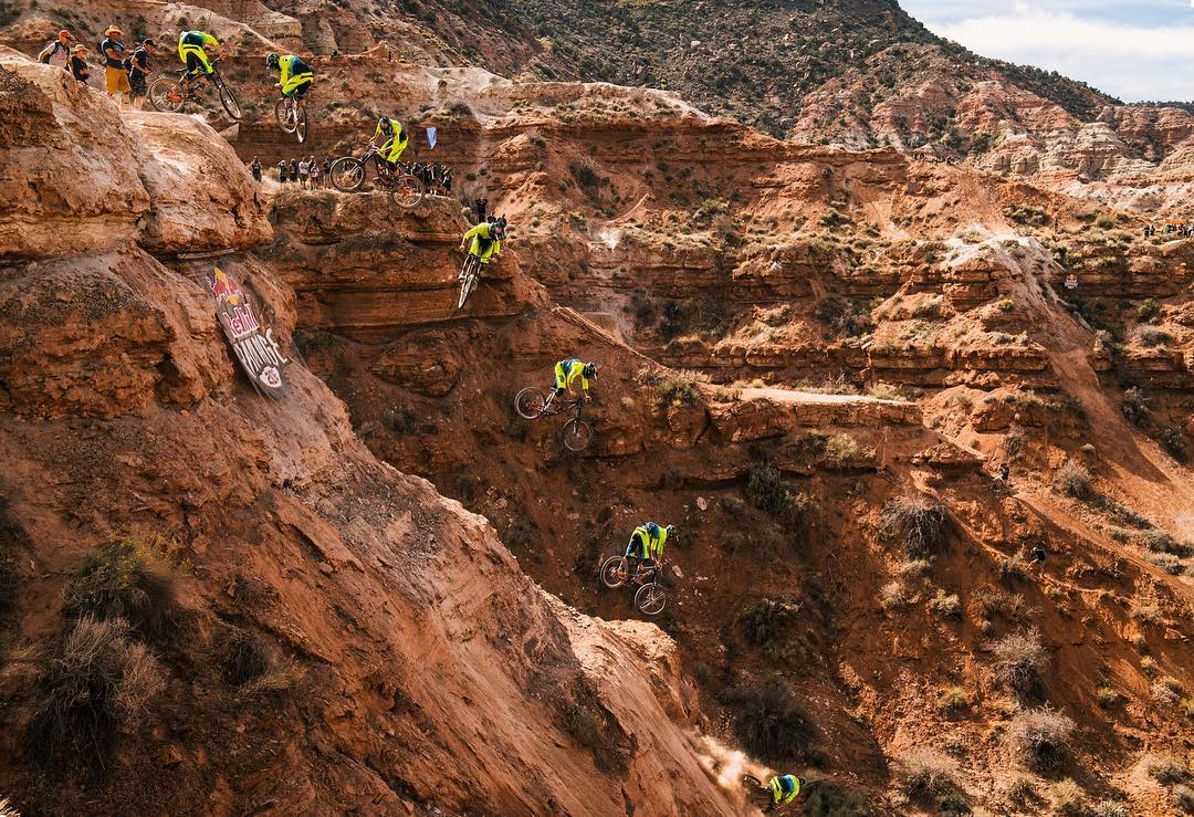 "As @camzink says, ""sometimes the mustard slips off the hot dog."" #RedBullRampage and the riders who bring the event to life are far from typical. Thanks for the show, fellas. 