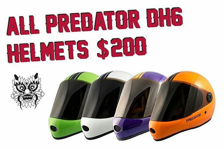 @flatspotshop -  If you haven't visited their web store you should! They've got some good deals going on like all DH6 @predatorhelmets for only $200. #flatspotlongboards #predatorhelmets #DH6 #regrann