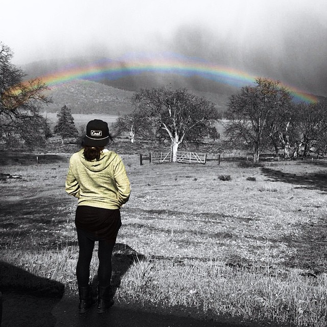There is a way out of every dark mist, over a rainbow trail | @mel902 #fineliving