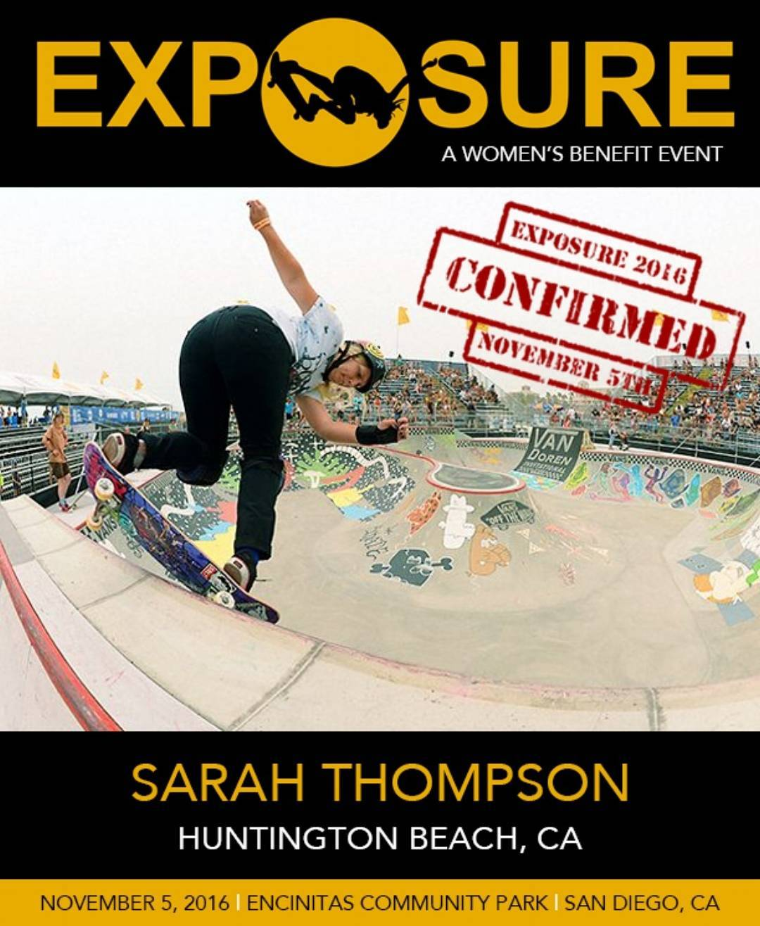 @sarahshreds is gonna get gnarly in our Pro Bowl/Vert competition!! Original photo by @aacosta