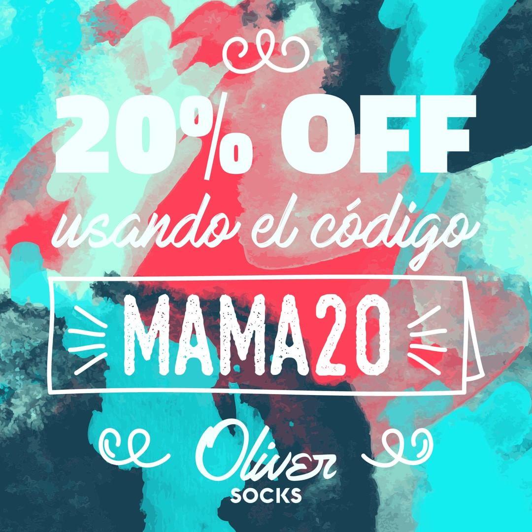 ¡Sigue la promo del 20% OFF en #OliverSocks!  Disfrutá tu beneficio en la web utilizando el código MAMA20 al finalizar tu compra y regalate algo para vos también. ¡Entrá ahora! . . #Oliver #Medias #CreaTuPropiaHistoria #Web #TiendaOnline #Descuento...