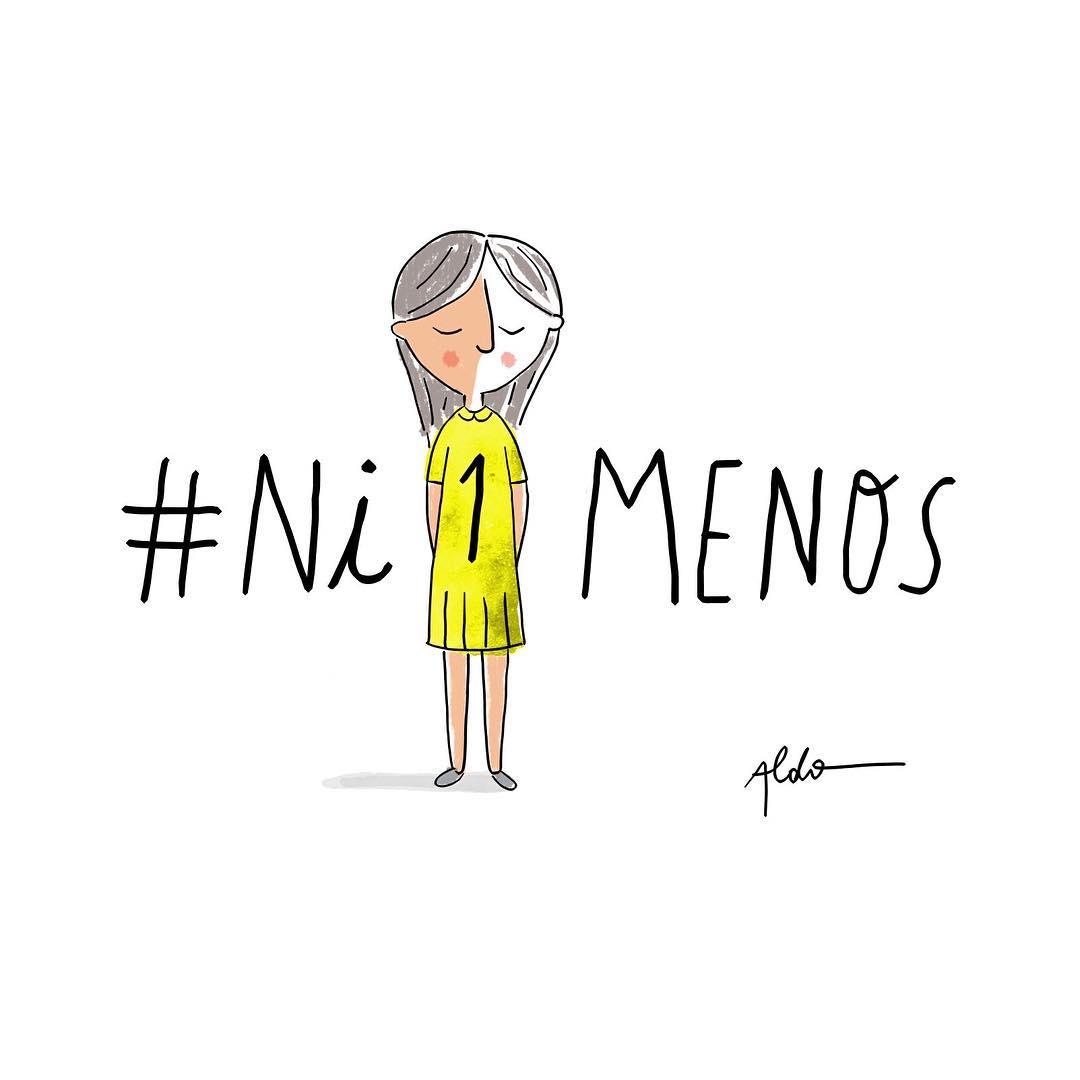 #niunamenos /ilustración de @aldotonelli
