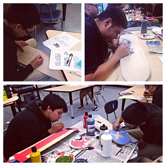 After learning about art history and technique, and spending weeks honing their designs, the Stokers at Los Angeles Big Picture High School are excited to be painting! #stokedforart #hardwork #progress #stokedla