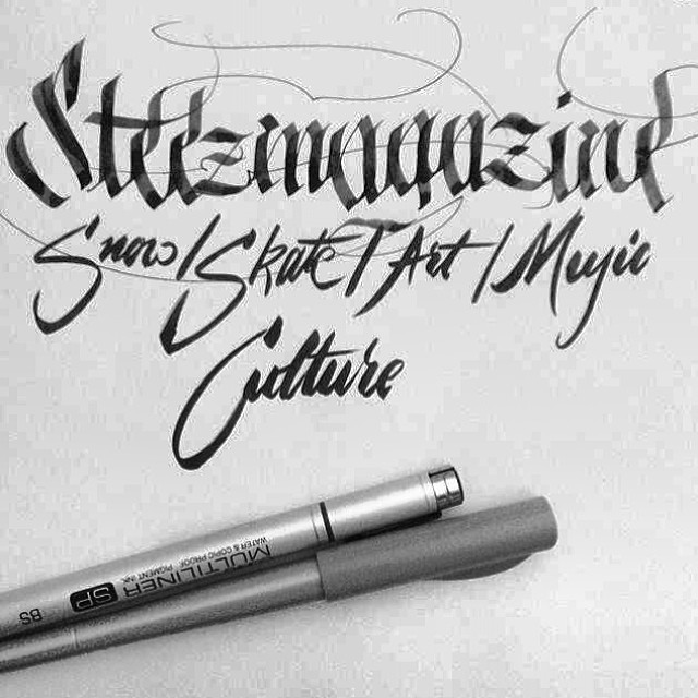 Regram of some rad #calligraffiti from @inqntrol #handlettering for #steezmagazine