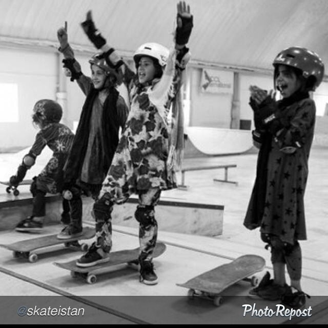 "Pure stoke. by @skateistan ""Getting stoked at our skatepark in #Kabul. Every week over 150 girls come to skate!"" #skate #skateboarding #skateboard #skatelife #skateistan"
