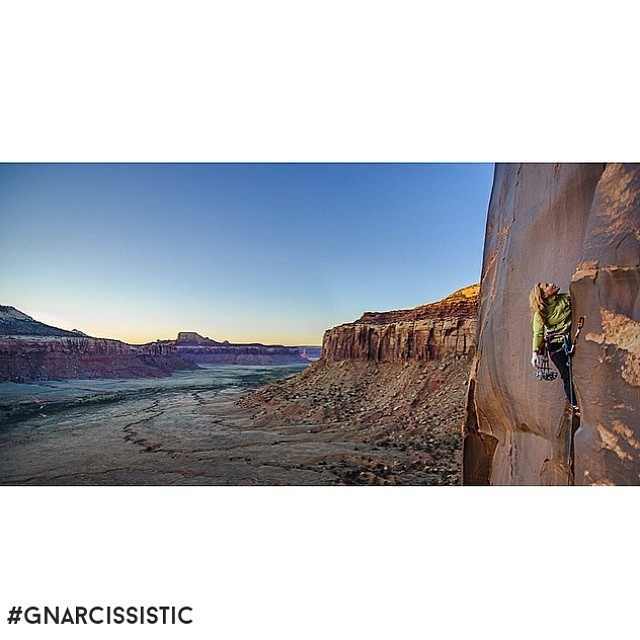 Strong climbing and phenomenal Photography. @shantipack getting #GNARCISSISTIC on off-width test piece Decreation 5.12 in Indian Creek, UT.  PC: @jasongebauerphotography Place: Decreation 5.12, Indian Creek, UT  #indiancreek #utah #climb