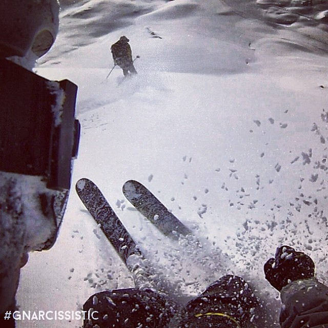 Helmet mounts + tandem shots. #GNARCISSISTIC  PC: @fabsemagresin Place: Alps  #ski #freeski #gopro #alps