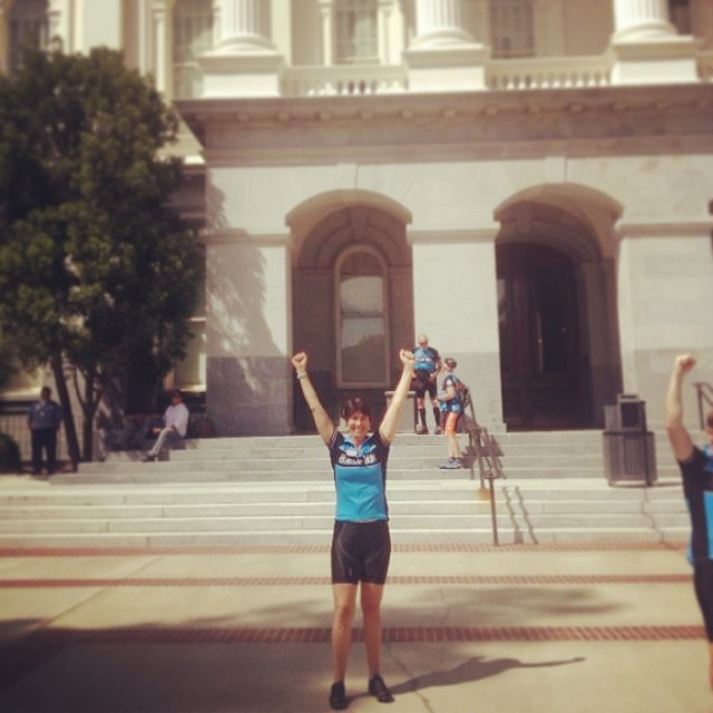 "After #biking 250 miles over the last 4 days, Julie Hale has completed #ClimateRide California! She raised $3,700 for 1% for the Planet and we couldn't be more thankful! ""I have met THE most inspiring people who are all trying to make our world better..."